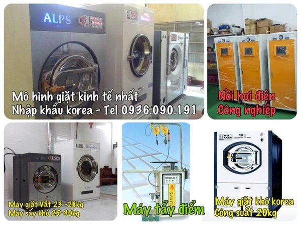 Mô hình giặt là công suất 3-5 tạ vải ngày