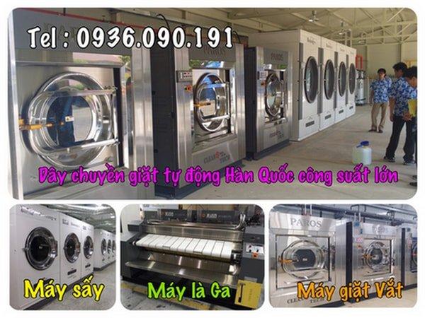 Mô hình giặt là công suất giặt 1-2 tấn vải / ngày