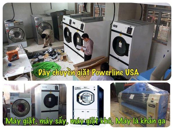 Mô hình giặt là sử dụng máy giặt công nghiệp Mỹ Và Hàn Quốc