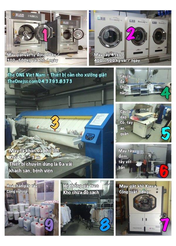 Mô hình giặt là chuẩn quy mô đủ nhất tốt nhất hiện nay