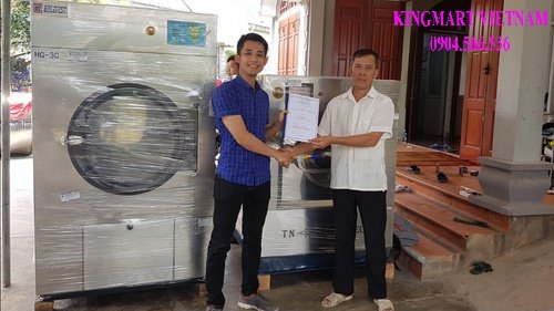 Lắp máy giặt sấy cho khách hàng hộ kinh doanh gia đình