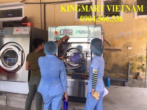 Lắp đặt máy giặt công nghiệp Hàn Quốc cho nhà máy dược phẩm