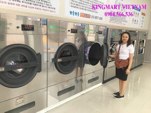 Lắp máy giặt sấy cho cửa hàng giặt là công nghiệp