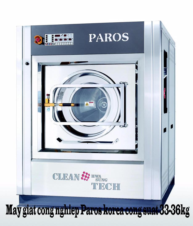 Máy giặt công nghiệp Paros Korea công suất giặt 33-36kg / Mẻ giặt