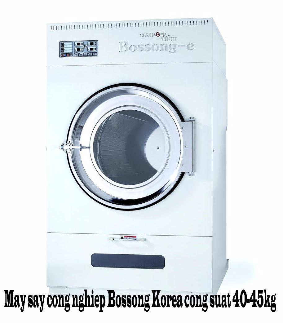 Máy sấy quần áo công nghiệp Bossong Korea Công suất 40-45kg/ lần sấy